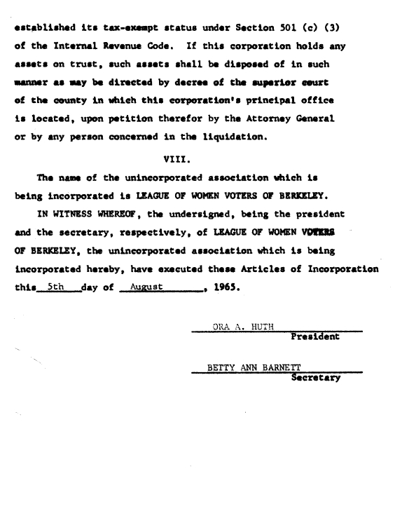 LWVB Articles of Incorporation p. 3