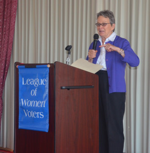 Sen. Loni Hancock at LWVBAE Community Luncheon 2015