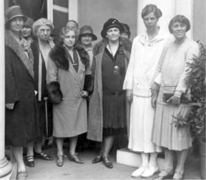 Eleanor Roosevelt and colleagues at Hyde Park