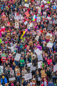 Womens March 2016 crowd scene from above