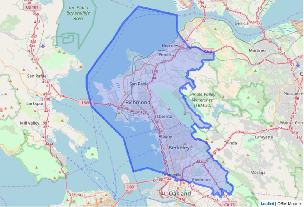 15tth California Assembly District Map