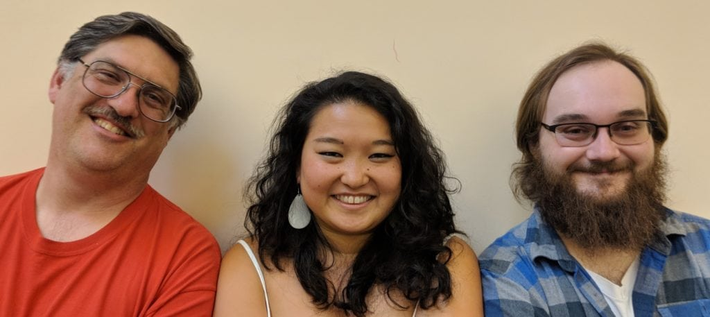 The BAEcast team Garrick-Smalley, Adena-Ishii, & Garrett-Bowers-Dodd