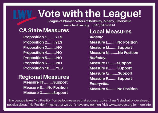 Vote-with-the-League-2018 poster