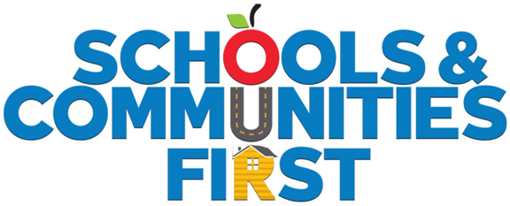 Schools And Communities First graphic