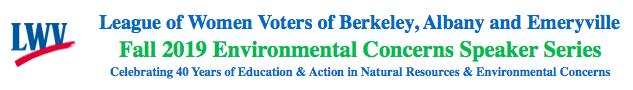 LWVBAE Environmental Concerns Speakers Series logo
