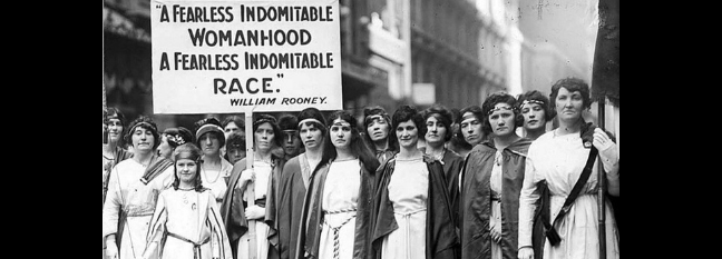 Women marching for the vote