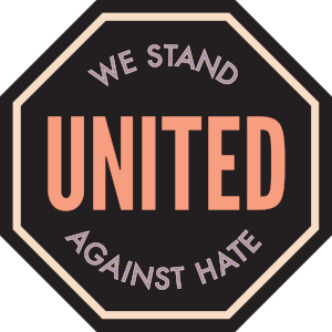 Logo for We Stand United Against Hate