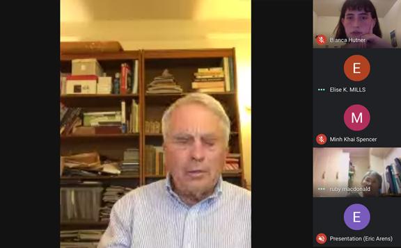 ERic Arens virtual meeting screen capture