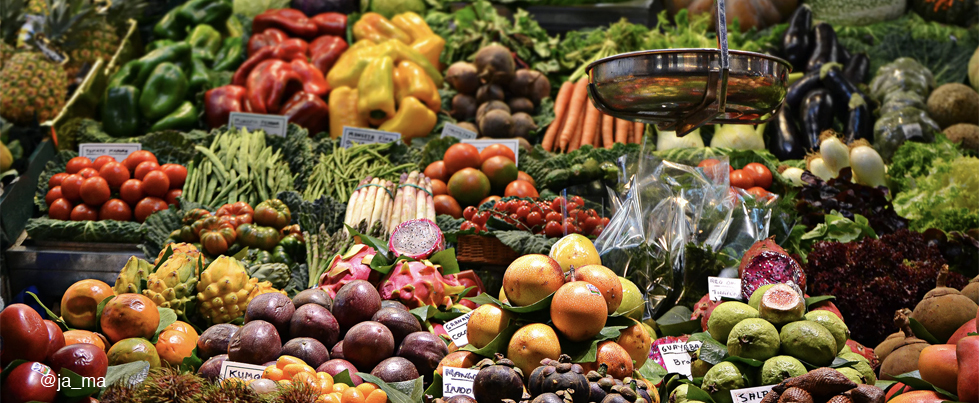 banner showing fruits & vegetables