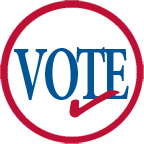 Vote logo with check mark