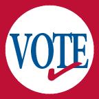 Vote logo with check mark