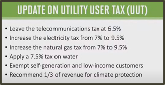 Update on Utility User Tax Chart