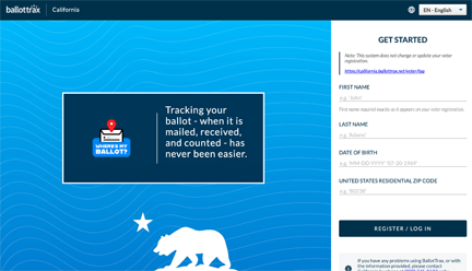 Ballot Tracking screenshot