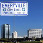 Emeryville City Limits sign